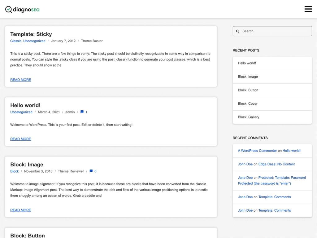 DiagnoSEO – 真正对 SEO 友好的 WordPress 主题,仅99Kb