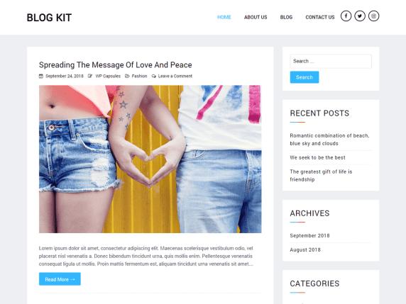 最小WordPress博客主题:Blog Kit 分享下载